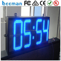 led time and clock temperature/humidity display hot/new technology product, outdoor led clock time date temperature sign