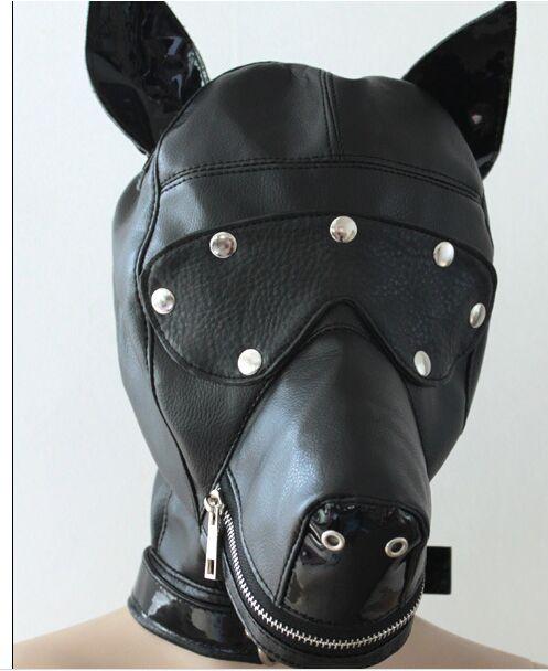ФОТО Flirting dog eye mask face open interest Passion supplies  cosplay mask  blackhead mask bondage mask