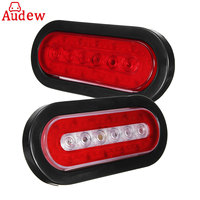 1Pcs 16 6 LED Red Car Warning Light For Truck Caravan Trailer Lorry Rear Tail Stop