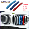Atreus 3pcs 3D Car Front Grille Trim Sport Strips Cover Stickers For New BMW X3 X4 2018 2019 2020 G01 G02 M Power Accessories review