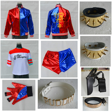 Halloween Cosplay Suicide Squad Harry Quin Role-Playing Costume Quinn Jacket T-Shirt Shorts Multi-Piece Full Set Of Access