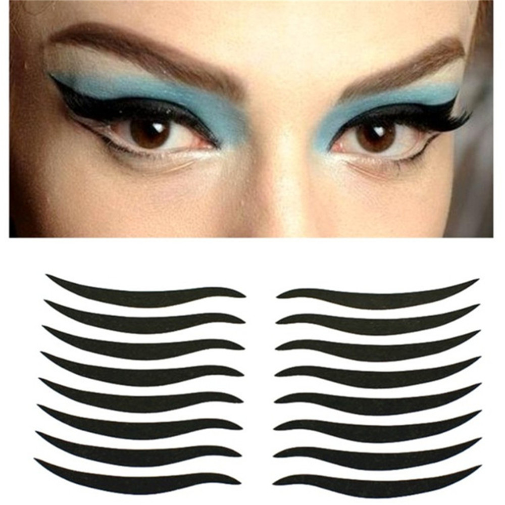 Double Eyelid Adhesive Tape Temporary Eyeliner Eyeshowder Stickers 160 Pcs Invisible Strips Decal Makeup 目