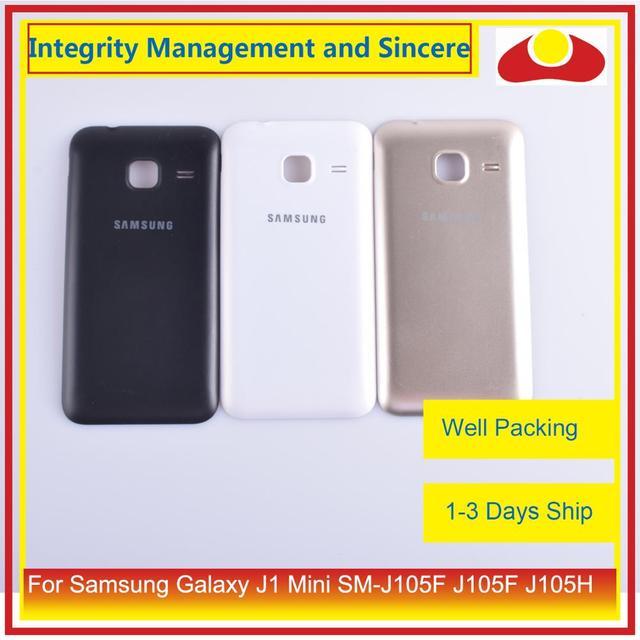 10 pièces/lot pour Samsung Galaxy J1 Mini SM J105F J105F J105H J105 boîtier batterie porte arrière housse châssis coque