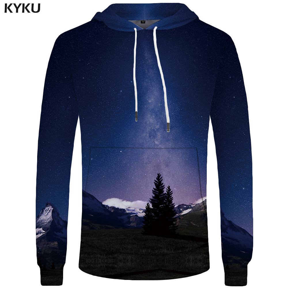 KYKU Brand Galaxy Hoodies Men Harajuku Mens Clothing Casual Sweatshirts Big Size Hoddie 3d Hoodies Hip Hop Sweatshirt