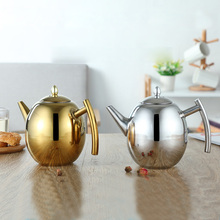 1L/1.5L Belly Shape Thicker Tea Pot Linner With Filter Design Water Kettle 304 Stainless Steel High Quality