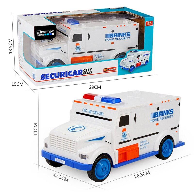 Caja de depósito de camión de efectivo ABS plástico Unisex divertido juguete cajas de dinero niños aprendizaje y educación vehículo Banco de Ahorro máquina