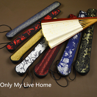 ストラップハンドファンポーチギフトバッグハイエンド手作り中国リアルシルク錦織扇子装飾包装カバ