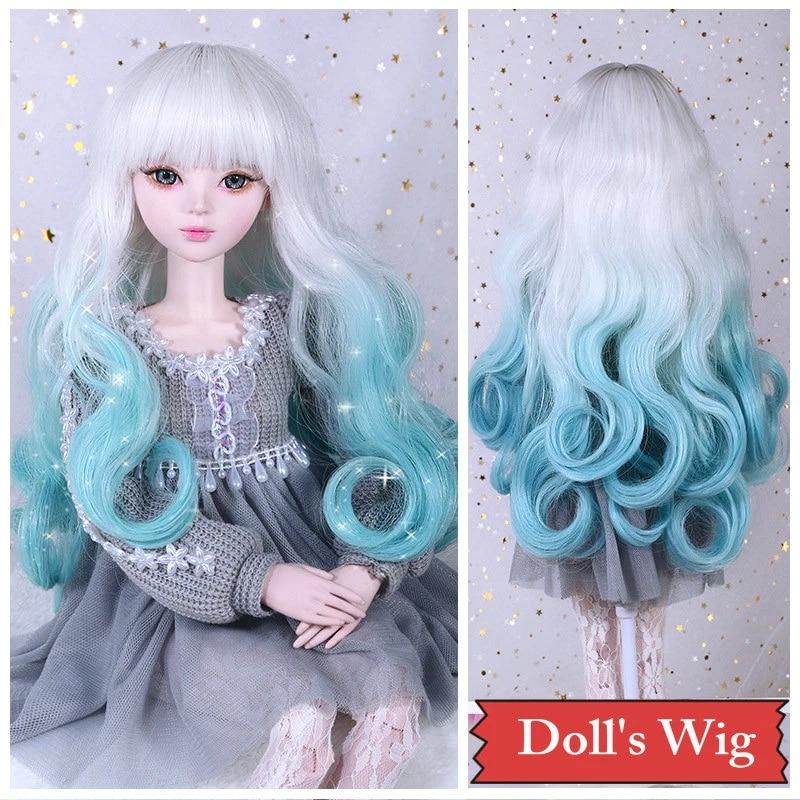 Hair Dolls hair Curly hair for dolls 6 Artificial hair for dolls Hair for wig Synthetical hair Ragdolls Wavy hair for wig Blythe doll hair
