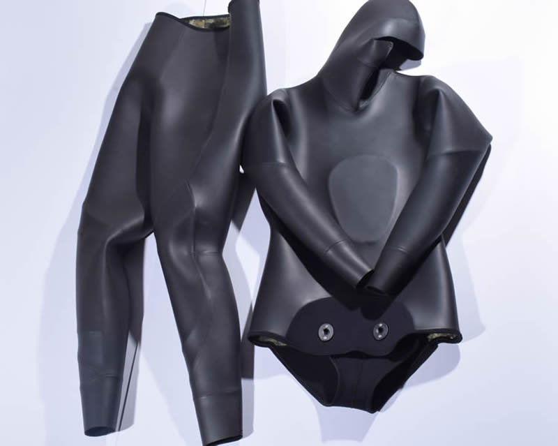 Hisea seac 3.5mm men neoprene diving suit Split wetsuit Fishing and hunting clothing Siameseprofessional separated diving suit