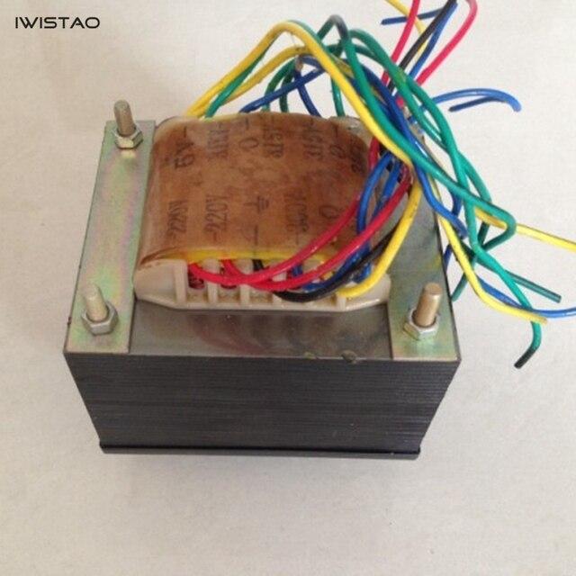 IWISTAO 175W tüp amplifikatör güç trafosu 300VX2 5V çift 3.15VX2 silikon çelik levha oksijensiz bakır tel HIFI ses DIY