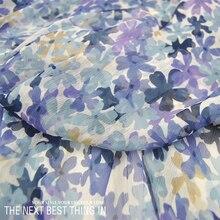Cute Flowers Printing Silk Georgette Dress Fabric