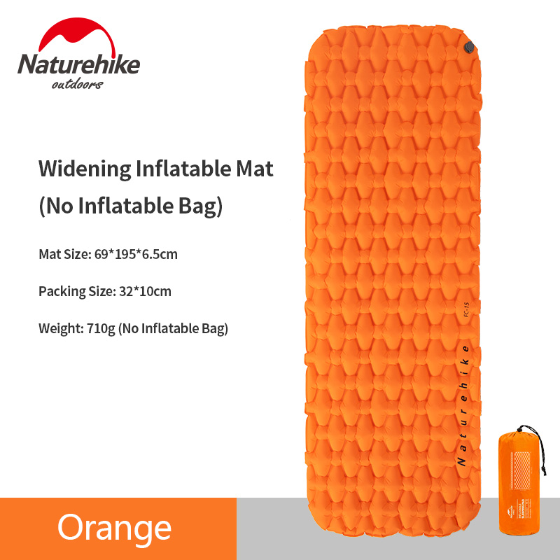Naturehike Outdoor Folding Camping Sleeping Pad Lightweight Portable Tent Inflatable Pad Single Person Sleeping Pad With Pillow