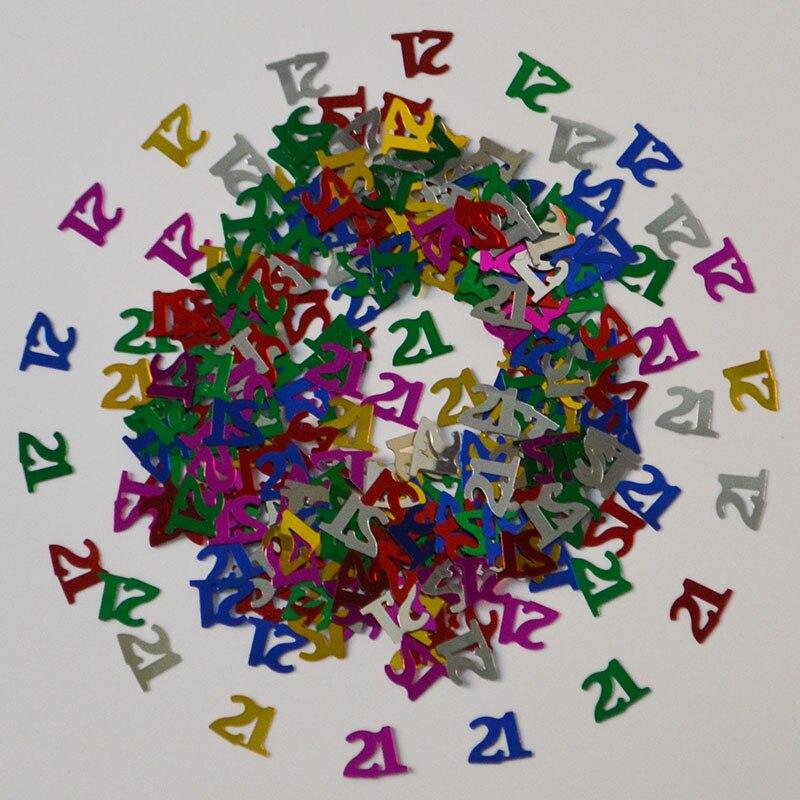 1 Bag 30g Happy Birthday Party Table Decoration Glitz Confetti Foil Sprinkles