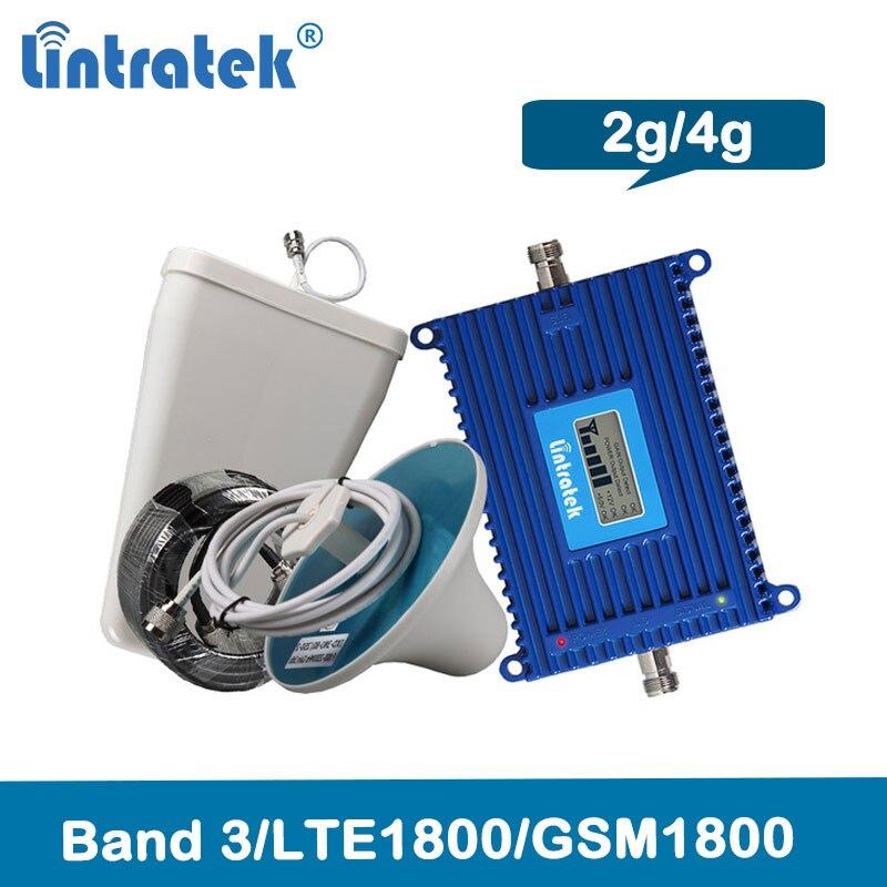 Lintratek 4G 1800Mhz Celullar Signal Booster Gsm 1800 Amplifier Lte Mobile Signal Repeater 2g 4g Dcs Celullar LCD Repetidor @6.1