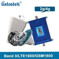 Lintratek 4G 1800Mhz celullar signal Booster gsm 1800 amplifier Lte mobile signal repeater 2g 4g Dcs celullar LCD repetidor 37