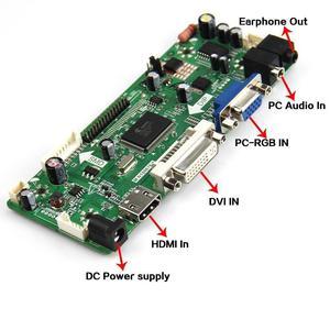 Image 2 - M. nt68676 hdmi dvi vga led kit de placa controlador lcd diy para b156xw02 v3/v6 b156xw02 v2/v7 b156xw02 v0/v1 1366x768