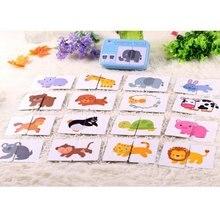 цена Baby Learning Card Children Cognitive Card With Iron Box Kids English Learn Tool montessori Educativos Tools Table Game Puzzle онлайн в 2017 году