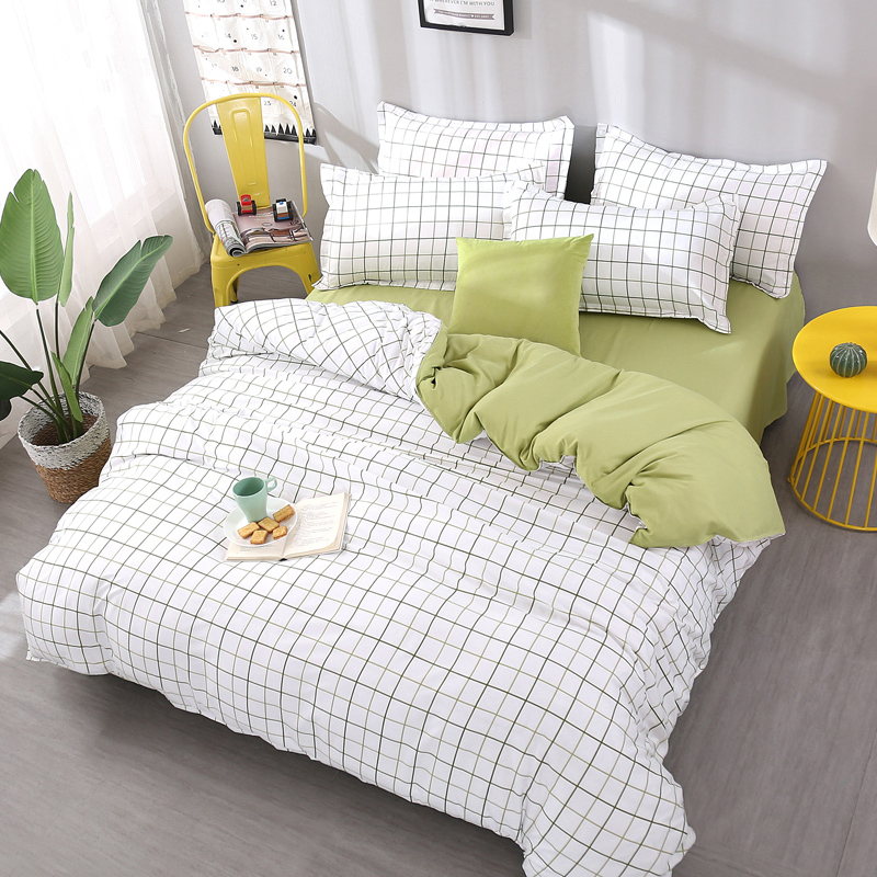 Plaid Bedding Sets Queen King Double twin full king Size Bedlinen Polyester new Duvet Cover Set