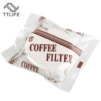 TTLIFE 100Pcs Bag Wooden Original Paper Round Single Filter Paper Coffee Filter Paper Coffee Machine Kitchen
