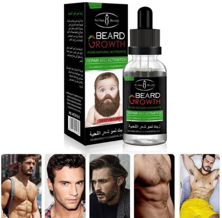 AICHUN Professional Men Beard Growth Enhancer Facial Nutrition Moustache Grow Beard Shaping Tool Beard care products Pakistan