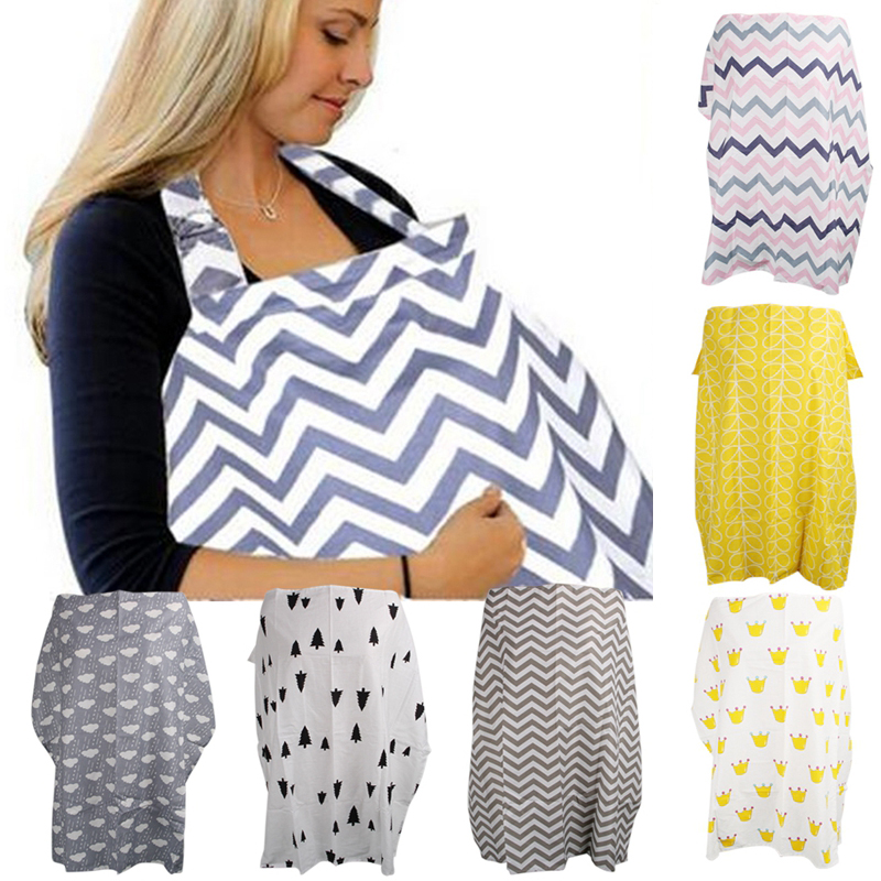Baby Breastfeeding Cover Infant Breathable Cotton Cloth Nursing Cover Stripe Breast Feeding Apron Breastfeeding Scarf For Baby