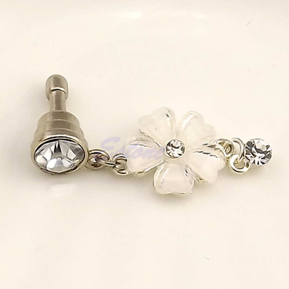 Dutiful 3.5mm Crystal Flower Earphone Anti Dust Plug Cap Stopper For Iphone For Htc For Samsung