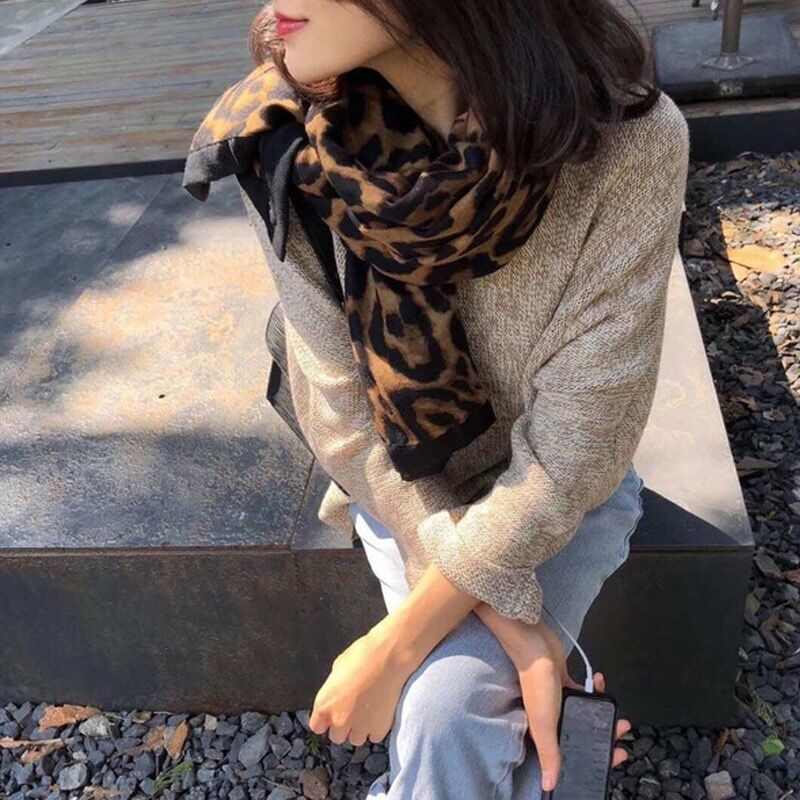 Luxury brand animal print women winter warm scarf leopard fashion shawls foulard chile femme bandana 2019 shawl blanket LL190413 in Women 39 s Scarves from Apparel Accessories