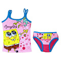 Retail stock Children/kids/baby girls cotton spongebob summer clothing set/underwear set with a tank tops and brief(2 to 5years)