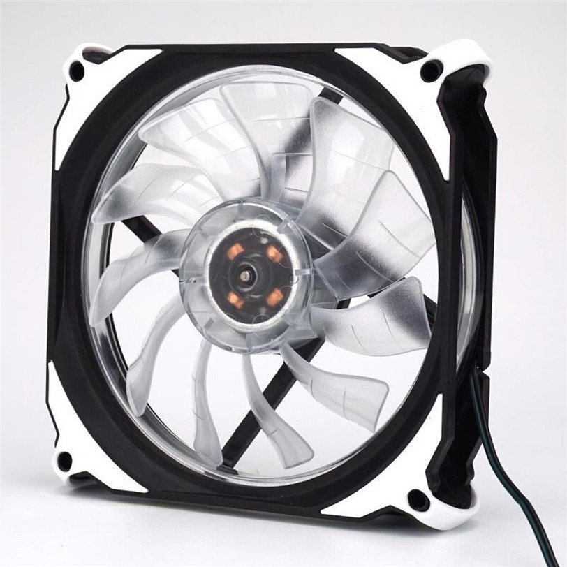 Quiet 120mm DC 12V 3+4pin LED effects Clear Computer Case Fan For Radiator Mod Aug29 Professional Factory Price Drop Shipping new 3u ultra short computer case 380mm large panel big power supply ultra short 3u computer case server computer case