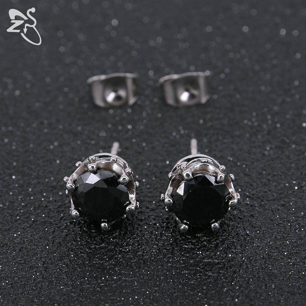 mens earrings fashion expertly men black single swarovski sterling diamond jet stud with crystal s silver from pewterhooter made dp and white ae