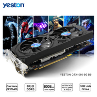 Yeston GeForce GTX 1060 GPU 6GB GDDR5 192 Bit Gaming Desktop Computer PC Video Graphics Cards