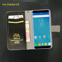 TOP New For Oukitel C8 Case 5 Colors Luxury Leather Case Exclusive Phone Cover Credit Card