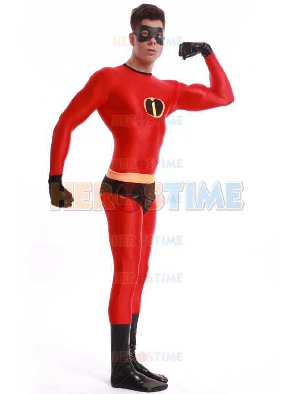 New 2017 Spandex Mr Incredible Superhero Costume Halloween Cosplay The Incredibles Costumes Classic Mens Adults Zentai Suit