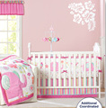 8 Pc Crib Infant Room Kids Baby Bedroom Set Nursery Bedding Pink Elephant cot bedding set for newborn baby girls