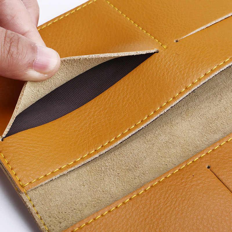 Longo Carteira de Couro Genuíno Dos Homens Das Mulheres Slim Fina Bolsa Simples Saco de Dinheiro Cartões Titular Carteiras de Embreagem Bolsa de Couro Carteira Mujer