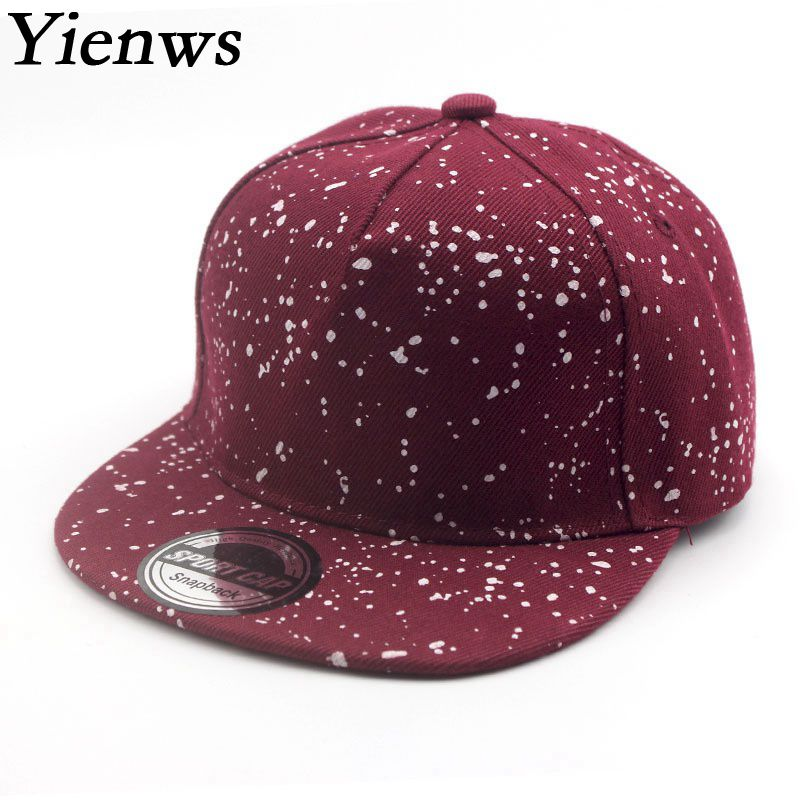 Yienws Kpop Straight Cap Boys Girls Pink Full Cap Hat Baseball Kids Summer  Gorras Planas Snapback Hip Hop Cap Childrens YIC021-in Baseball Caps from  Apparel ... 16743af1306