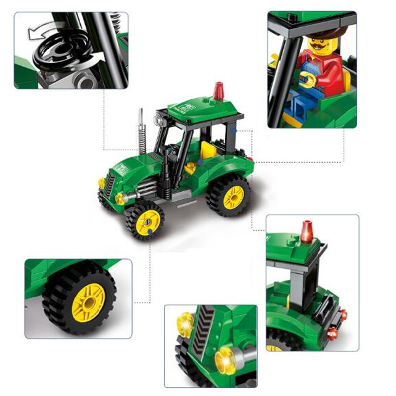 Cool-Tractor-DIY-Building-Blocks-Kit-Toy-Truck-Construction-Bricks-Children-Educational-Toys-Gift-112pcs-Blocks-4