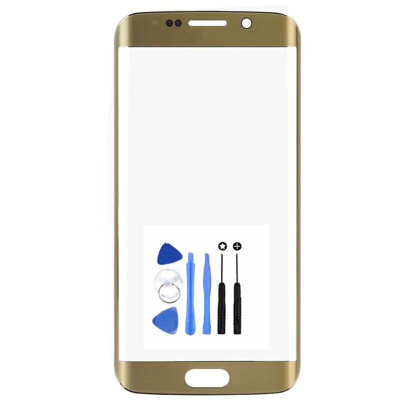 Envío de la Alta Calidad Frente Exterior Lente de Cristal de Repuesto para Samsung Galaxy S6 Edge Más S6 Edge + G928 G928F