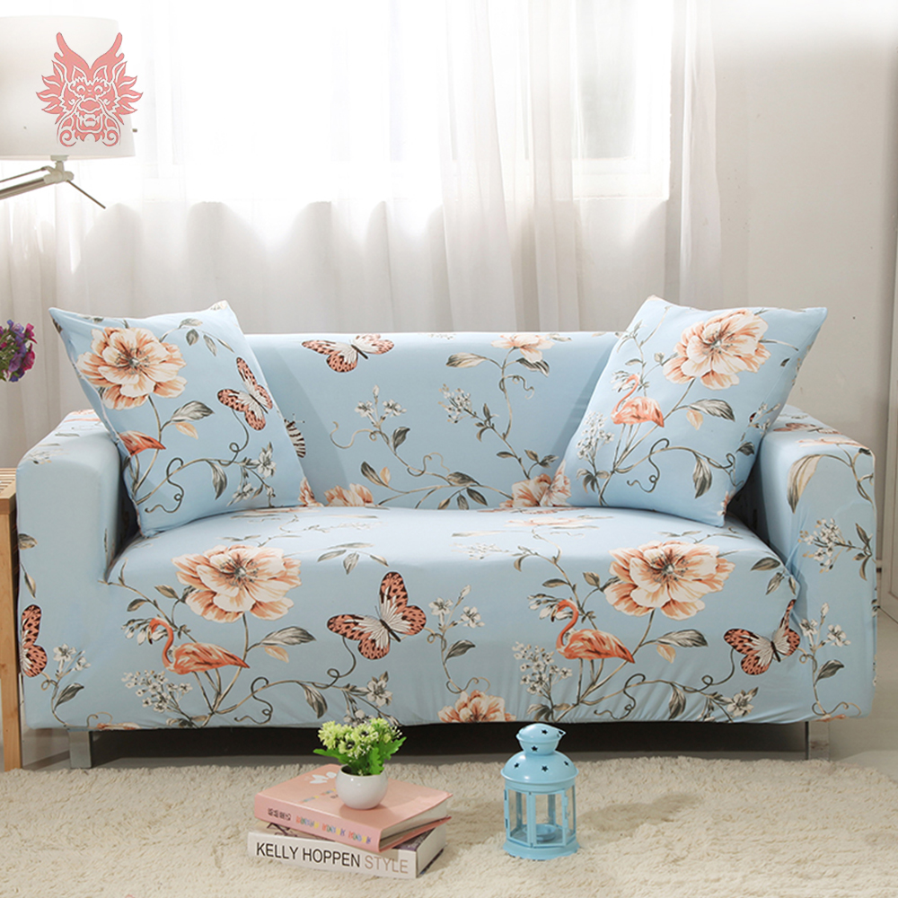 1seat 2seats 3seats 4seats Butterfly Floral Print Stretch