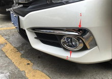 Lapetus Chrom Vorne Nebel Lampe Lichter Augenbraue + Ring Abdeckung Trim 4 Pcs Für Honda Civic Limousine 2016 2017 ABS zubehör Außen