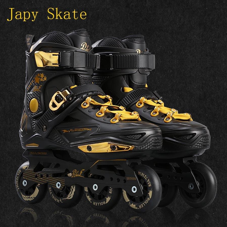 Japy Skate Badao Inline Skates Professional Slalom Adult Roller Skating Shoes Sliding Free Skating Good As SEBA Patines Adulto 8pcs 88a inline skate wheels with ilq 11 bearing 80mm braking slalom free skating sliding roller for seba patines tires japy
