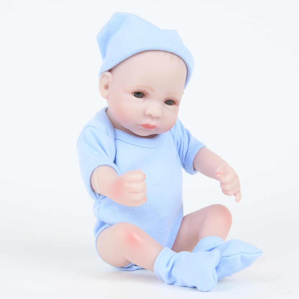 Mais novo Congratulou-se Com As Crianças Presentes Brinquedos Inovadores 10 Polegadas Muito Pequeno Bebê Vinil Silicone Boneca Reborn Brinquedos Kit Completo