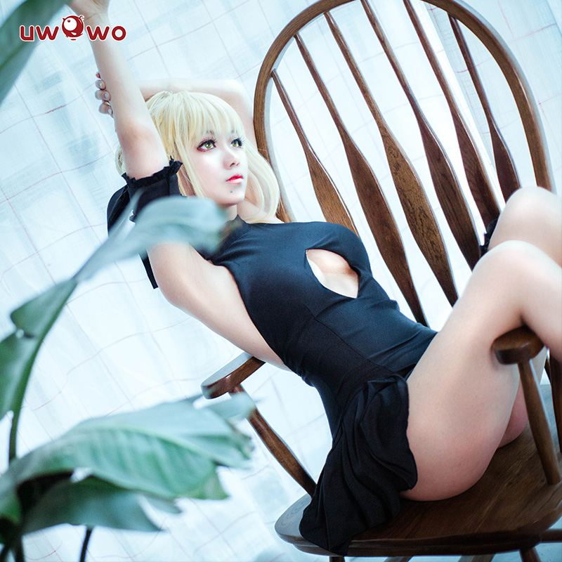 UWOWO жаңа нұсқасы Alter Sabre Cosplay Fate Grand Order - Костюмдер - фото 3