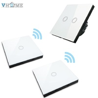 Vhome EU UK Smart Home Touch Switch Wall Stickers Remote Control Transmitter RF433mhzwall Light Crystal Glass