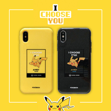 Luxury Pokemons Pikachus Cartoon Phone Couple Case for iPhone 6 6s 7 8 Plus X XS XR XSMax Shimmering