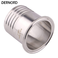 DERNORD 3 Sanitary Hose Barbed Pipe Fitting to 3 Tri Clamp SUS304 Ferrule O/D 77mm