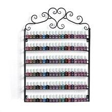 Retro Herz Metallrahmen Nagellack Ständer Kosmetik Nagel Shop Ausstellung Regal Organizer Aufbewahrungstasche Wand Rack