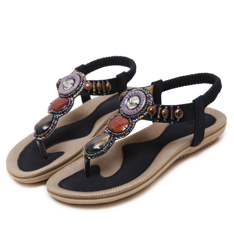35 Perles Kaki B2 Femelle Sandales Df Grande Femme 7 Chaussures Slip kliTZwPuOX
