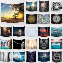 Unicorn tapestry sun night moon  waterfall wall hanging home decoration large rectangle bedroom