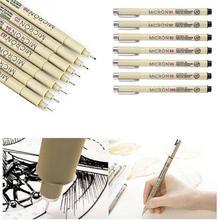 Sakura Pigma Micron Pen Needle Waterproof Drawing Sketch 005 01 02 03 04 05 08 Black Art Markers Comic Designn Hook Line